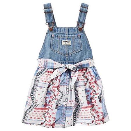 8578475c5c58 OshKosh B Gosh - OshKosh B gosh Baby Girls  Patchwork Print Denim ...