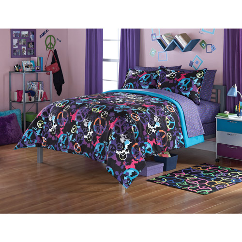Your Zone Peace Splatter Bedding Comforter Set