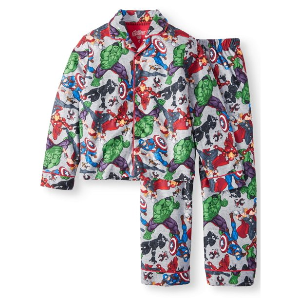 The Avengers - Avengers Button Up Pajama Sleep Set (Little ...