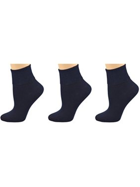 44bc268689d6 Product Image Sierra Socks Women's 3 Pair 100% Cotton Ankle Turn Cuff  Seamless Toe (12,