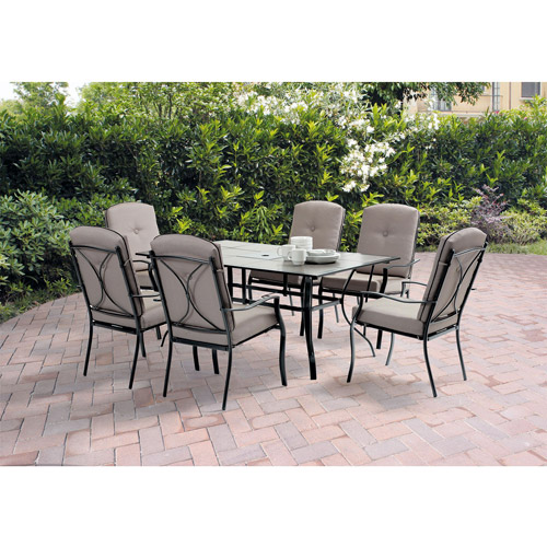Mainstays Sonoma 7Piece Patio Dining Set Archtype Box 1 of 2
