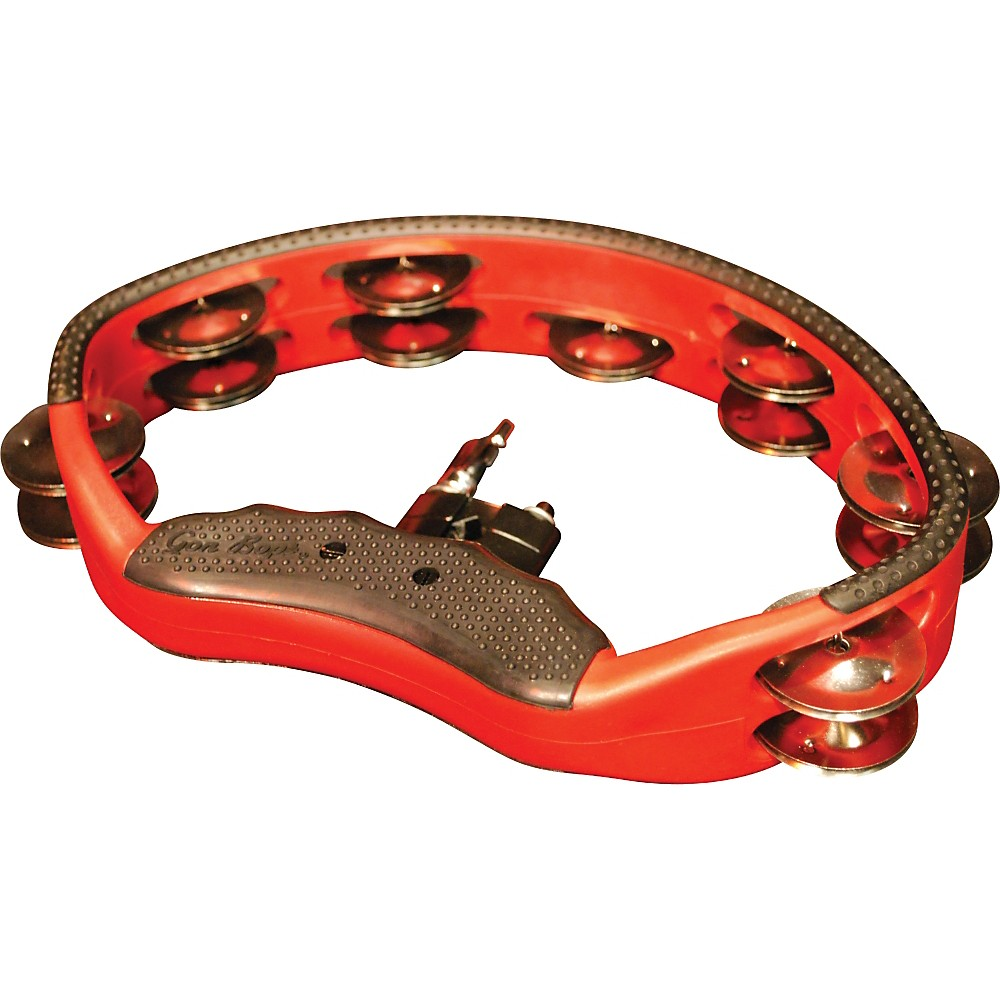 Gon Bops Tambourine with Quick-Release Mount Red