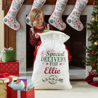 Personalized Santa's Special Delivery Oversized Christmas Gift Bag