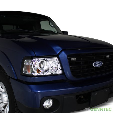 2001 2011 ford ranger twin halo led projector headlights. Black Bedroom Furniture Sets. Home Design Ideas