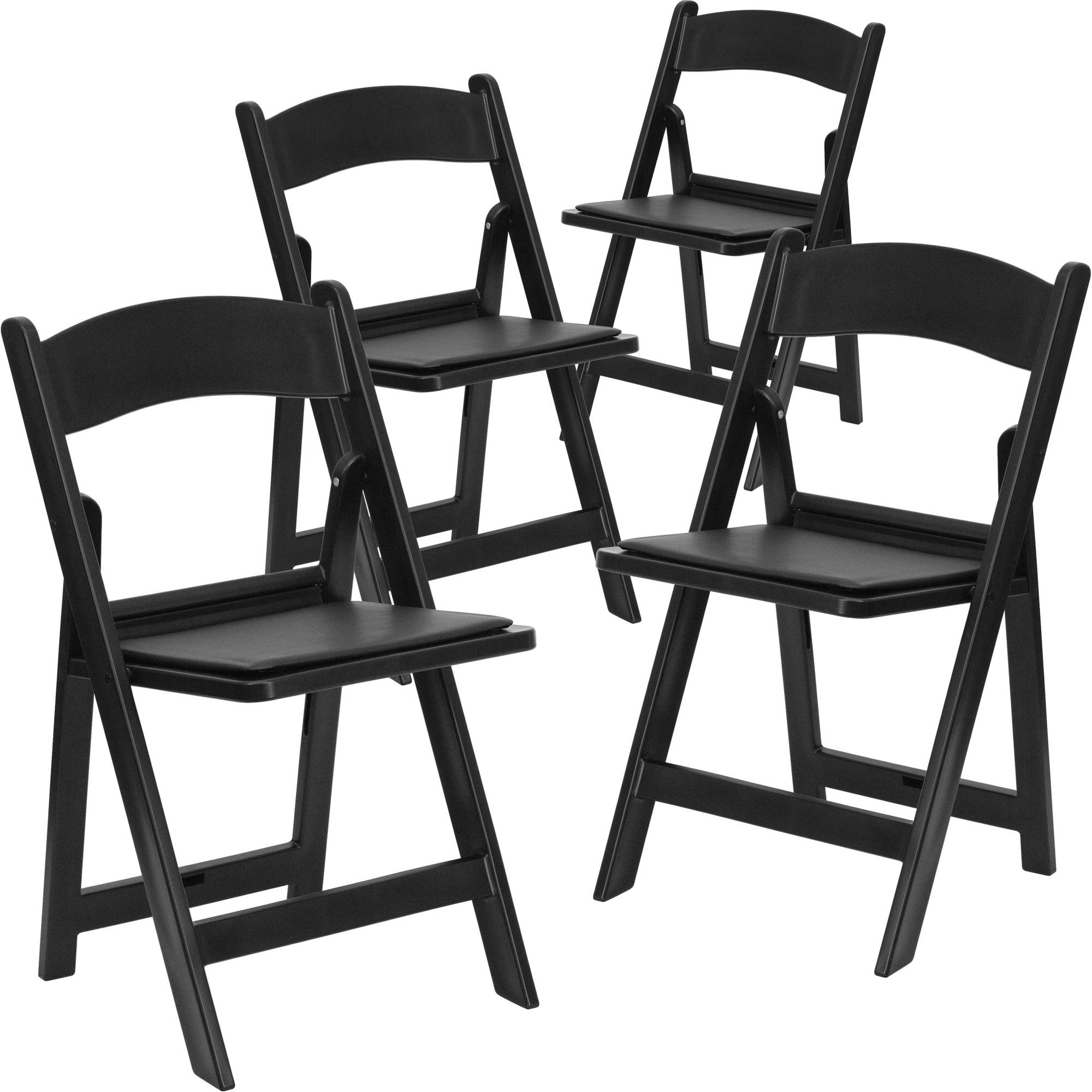 Flash Furniture 4 Pk. HERCULES Series 1000 lb. Capacity Resin Folding Chair with Seat Multiple Colors