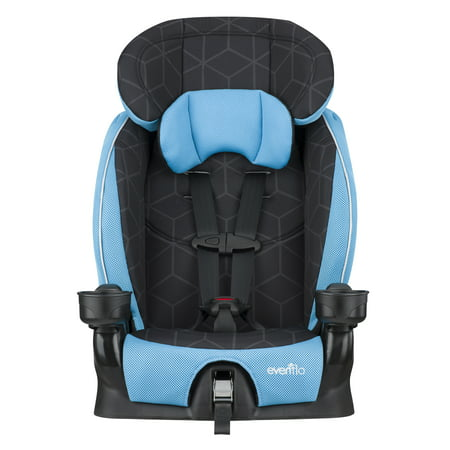 Evenflo Advanced Chase LX Harness Booster Car Seat, Glacier Ice Booster Seats Harness