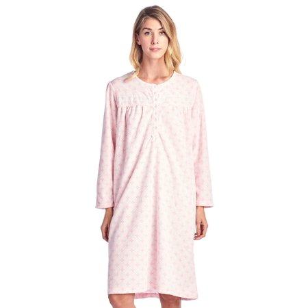 Casual Nights - Casual Nights Women s Long Sleeve Micro Fleece Cozy Floral  Nightgown - Walmart.com 74949a66d