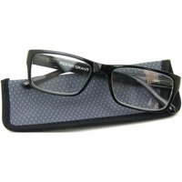 Foster Grant Men's Dan Reading Glasses, Black