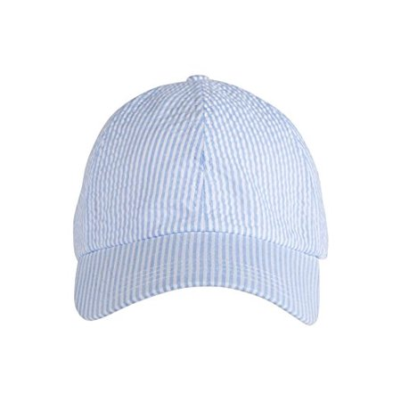 1692f5db26b Mud Pie Women s Seersucker Baseball Cap (Blue ) - Walmart.com