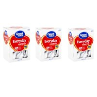 (3 Pack) Great Value Everyday Assorted White Cutlery, 96 count