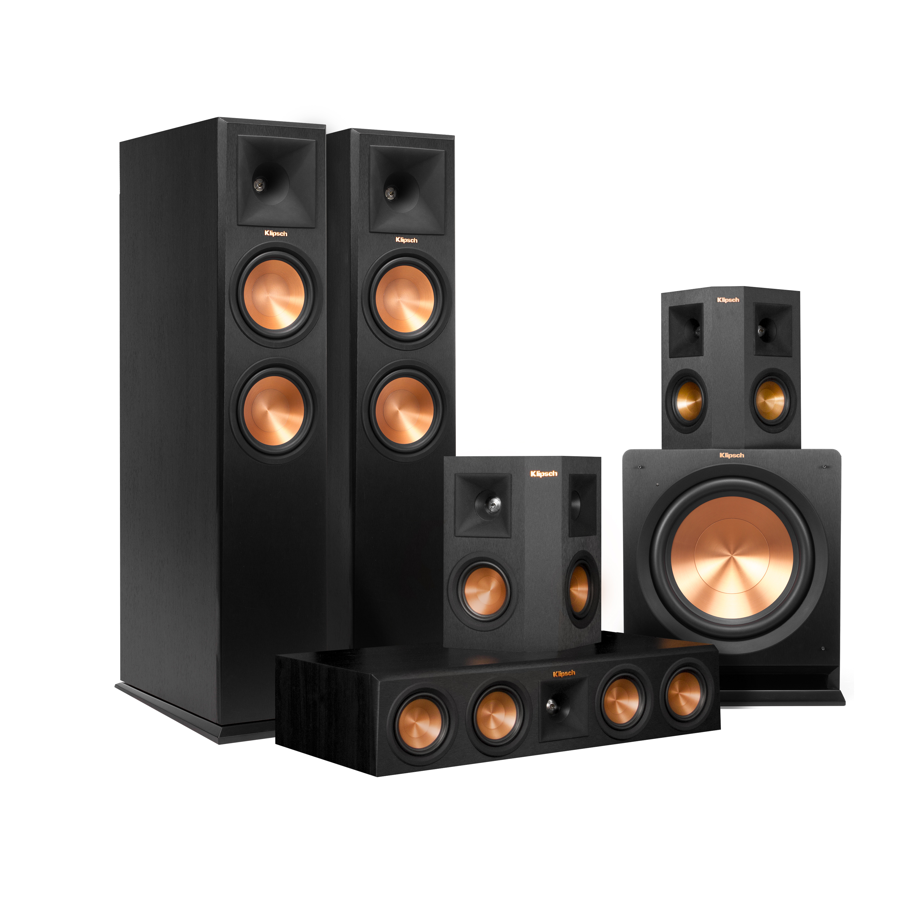 """Klipsch 5.1 RP-260 Reference Premiere Speaker Package With R-112SW 12"""" Subwoofer by Klipsch"""