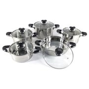 Better Chef 10 Piece Stainless Steel Cookware Set