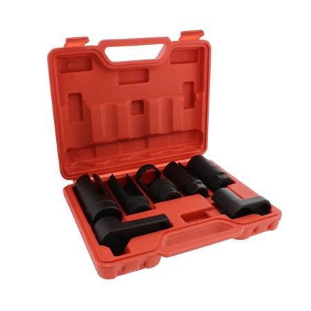 "ABN Oxygen O2 Sensor Socket 7-Piece Tool Kit 22mm (7/8"" Inches) 27mm 29mm"