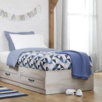 Better Homes & Gardens Modern Farmhouse Platform 2-Drawer Storage Bed, Twin, Multiple Finishes