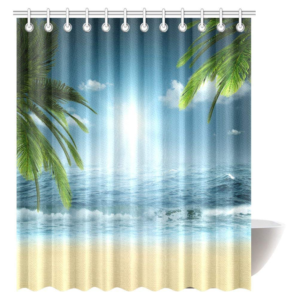 GCKG Ocean Beach Theme Decorations Shower Curtain
