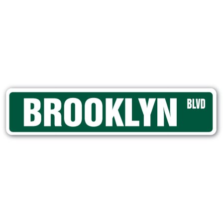 BROOKLYN, NY Street Sign NYC New York City big | Indoor/Outdoor |  24