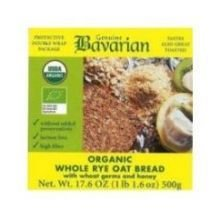 Genuine Bavarian Organic Whole Rye Oat Bread, 17.6 Ounce -- 12 per case.