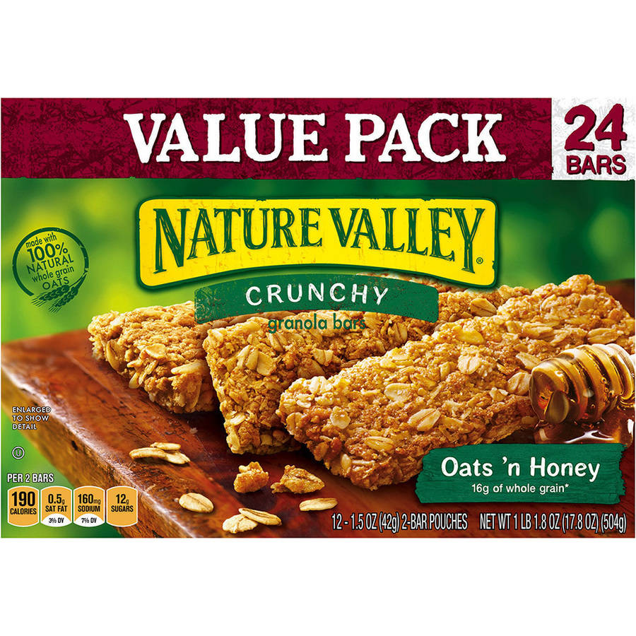 Nature Valley�� Oats 'n Honey Crunchy Granola Bars 12-2 ct Pouches