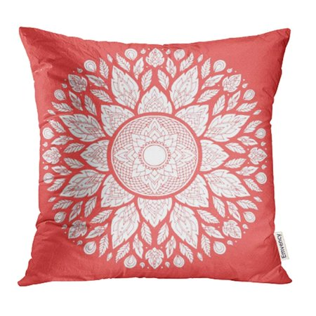 CMFUN Mandala Geometric Symbol of The Universe Chakra Yoga Meditation Flower Floral Leaf Pillow Case Pillow Cover 18x18 inch Throw Pillow