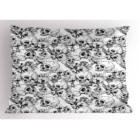 Pillowcase In Spanish Fascinating Day Of The Dead Pillow Sham Festive Celebration Mexican Spanish