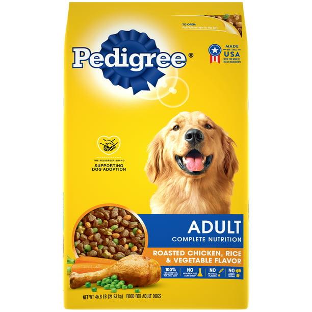 PEDIGREE Complete Nutrition Adult Dry Dog Food Roasted Chicken, Rice & Vegetable Flavor Dry Dog Food, 46.8 lb Bag