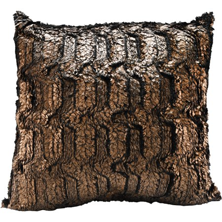 Better Homes And Gardens 40 X 40 Bronze Fur Decorative Pillow Impressive Bronze Decorative Pillows