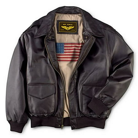 Men's Air Force A-2 Leather Flight Bomber Jacket Classic Mens Leather Bomber Jackets