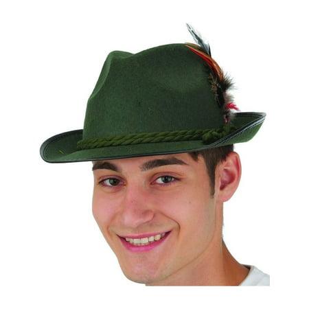 Adults Mens Green Felt Bavarian Hat Costume - Bavarian Hat
