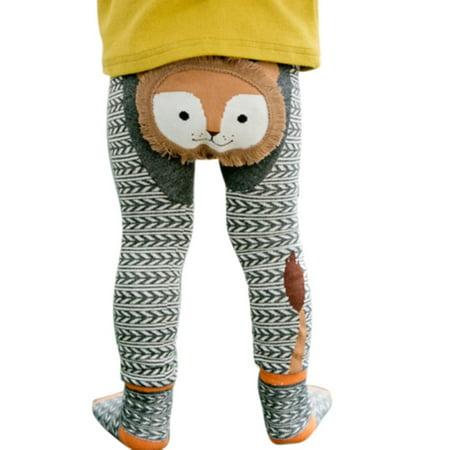 2Pcs Baby Boy Girl Toddler Cotton Cartton Print Socks Tights Leggings Pant