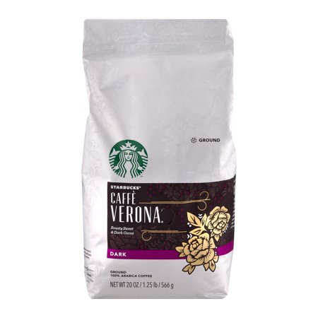 Starbucks Caffe Verona Dark Ground Coffee, 20.0 OZ