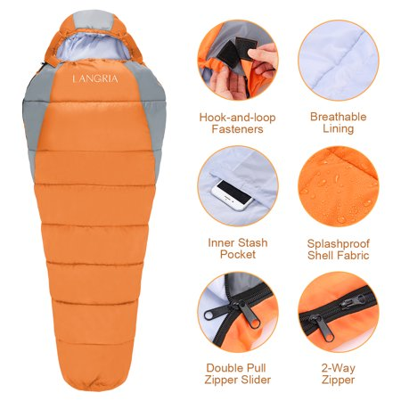 Sleeping Bag 3 Season Compact Bags For S Indoor Outdoor Lightweight Sleepover Camping Backng Hiking Festival