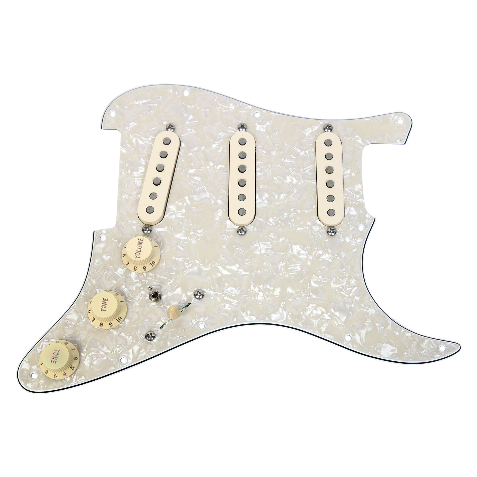 920D Custom Shop Texas Special Loaded Pickguard Fender Strat 7 Way AWP AW by