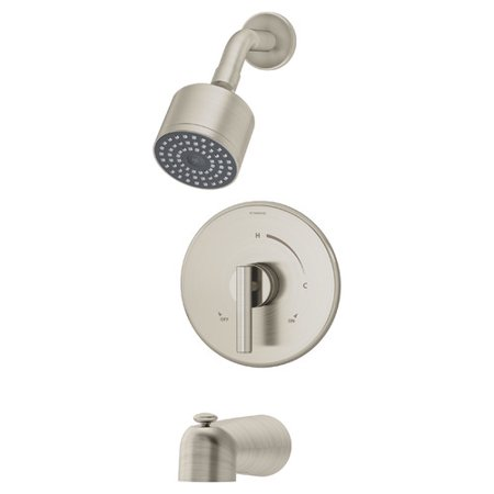 Dia Single Handle Tub and Shower Faucet in Satin Nickel