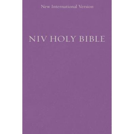 Purple Bible Cover (NIV, Holy Bible, Compact, Paperback,)