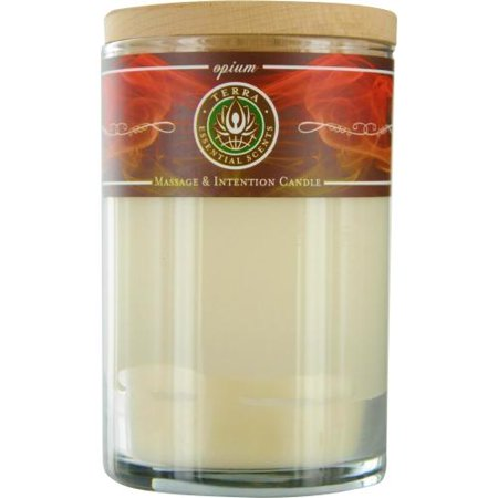 Terra Essential Scents 10340423 Opium Candle By Terra Essential Scents Massage Soy Candle 12 Oz Tumbler. An Alluring & Sensual Blend With Garnet Gemstone. Burns Approx. 30+ Hours