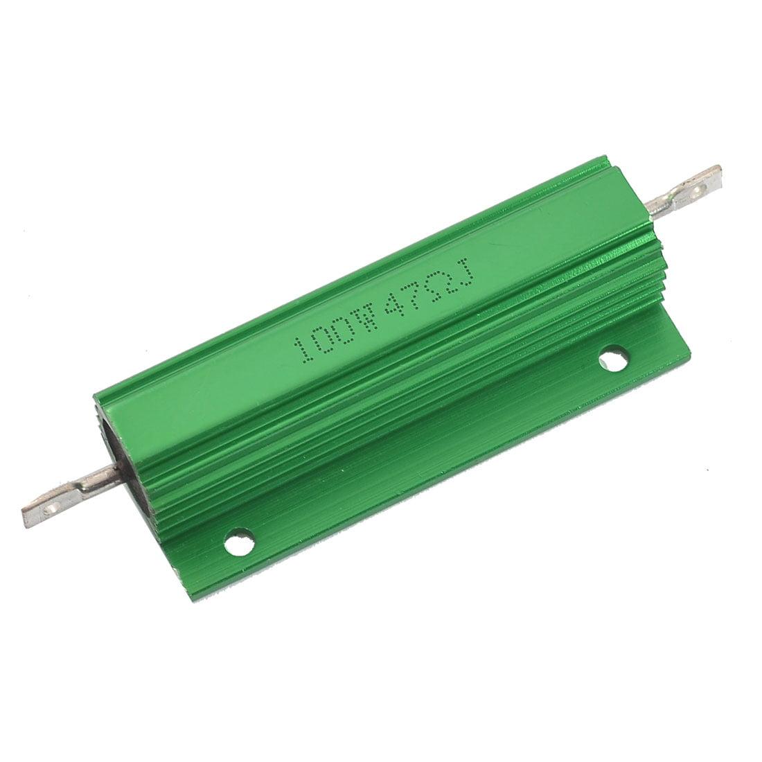 Unique Bargains Aluminum Case 100W Watt 47 Ohm 5% Wirewound Resistor for Transducer - image 1 of 1