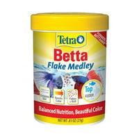 (3 Pack) Tetra BettaMin Flake Medley Fish Food, 0.81-Ounces