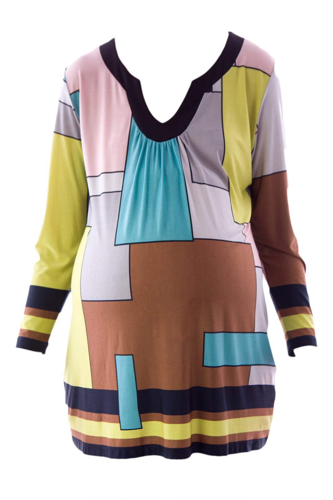 Olian Women's Geometric Print Maternity Tunic X-Small Multicolor