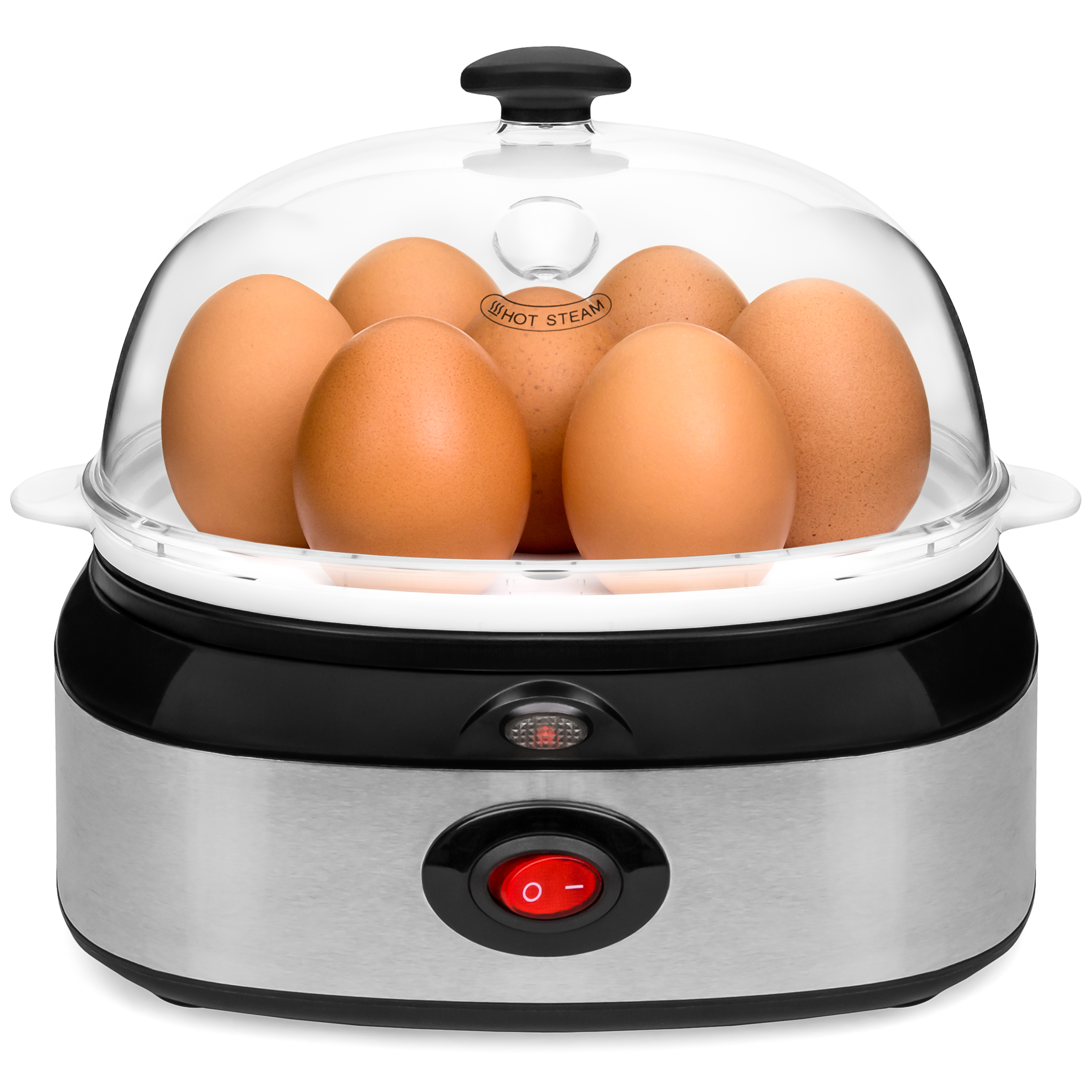 Best Choice Products Automatic Stainless Steel 7 Egg Cooker, Boiler, Poacher & Steamer w/ Auto Shut Off - Silver