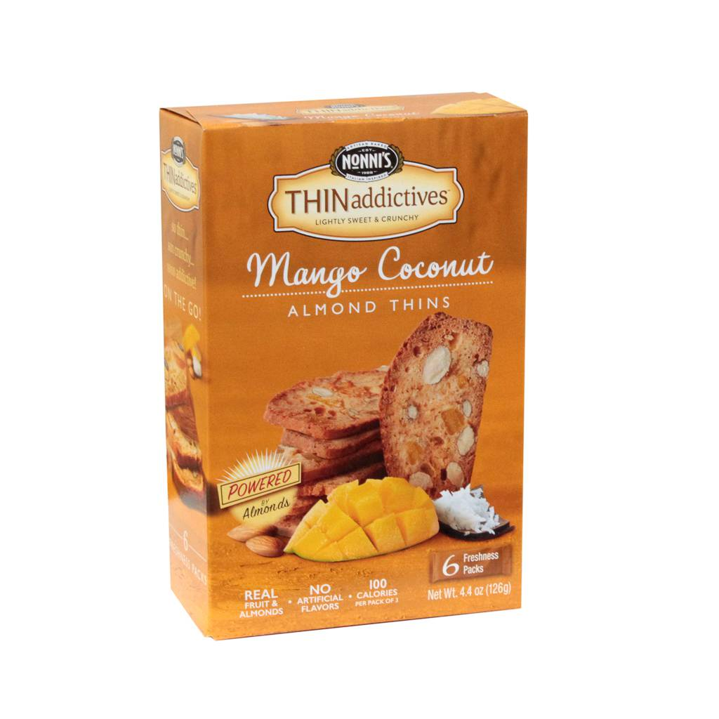 Thin Addictives Nonni's Mango Coconut Almond Thin Cookie Case 6each (PACK OF 6)
