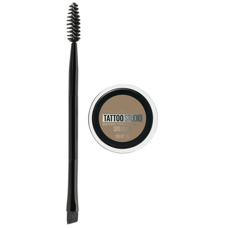 Maybelline TattooStudio Brow Pomade Long Lasting, Buildable, Eyebrow Makeup, Light Blonde