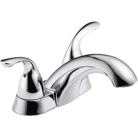 Delta Classic Centerset Lavatory Faucet with Metal Lever Handles, Available in Various Colors - Lever Handle Centerset Faucet