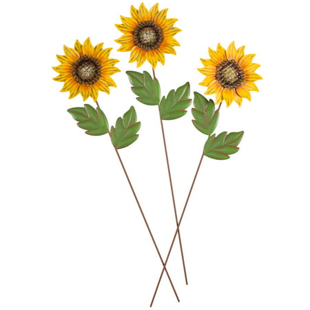 Sunflower Stakes, Set of 3 by Maple Lane Creations](Graduation Stores)