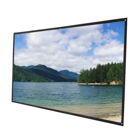 120 inch Portable Projector Screen - Indoor and Outdoor Movie Screen for Cinema and Office Presentation - 16:9 HD Video Projection Diagonal for Home - image 2 of 9
