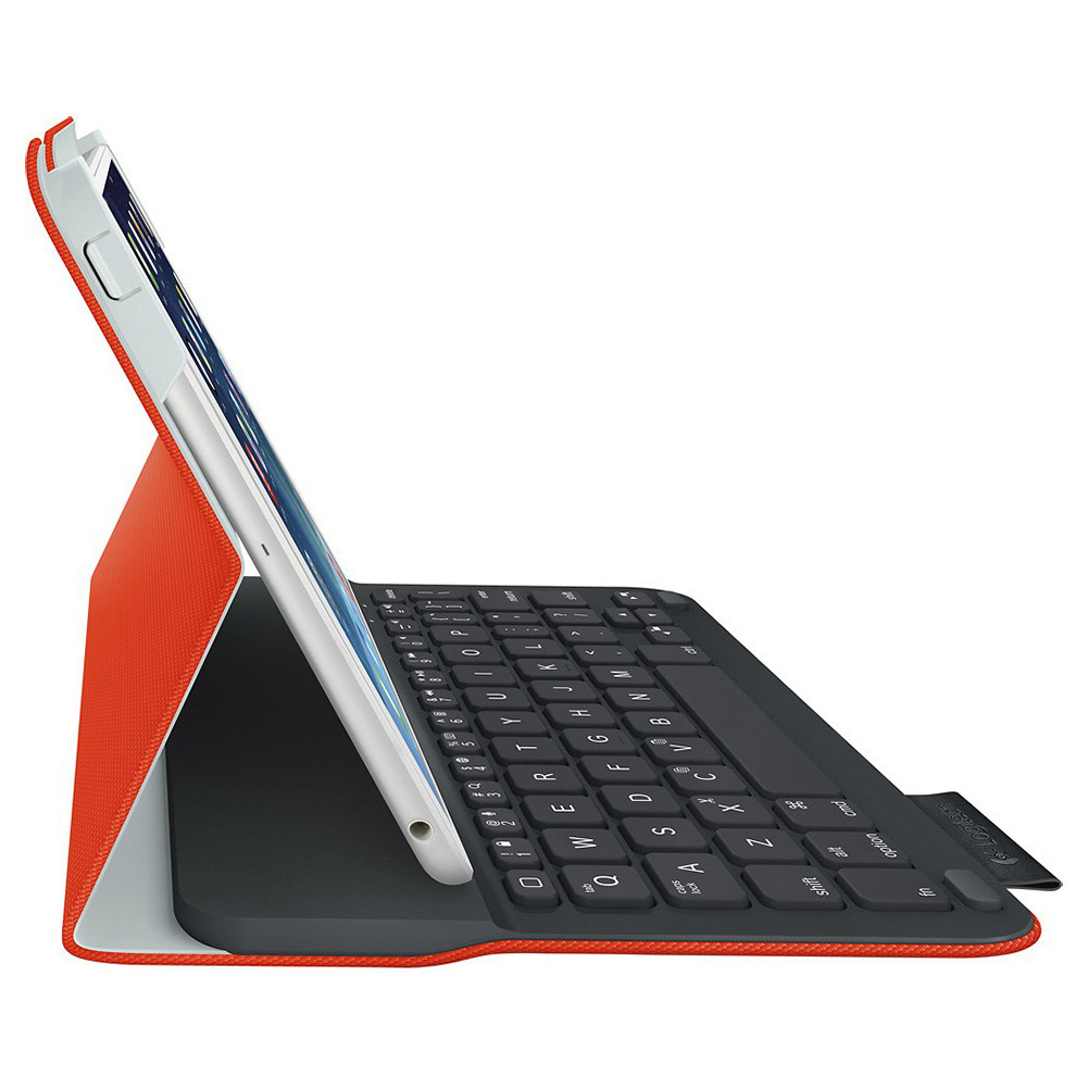 Logitech Ultrathin Keyboard Folio Case for iPad Mini (Red-Orange), Refurbished