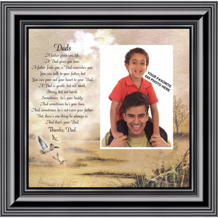 Dad Great Gift For Thanking Dad Personalized Picture Frame For Dad
