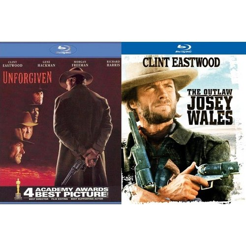 Unforgiven / The Outlaw Josey Wales (Blu-ray) (Walmart Exclusive) (Widescreen)