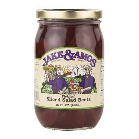 Jake & Amos Pickled Sliced Salad Beets 16 oz. Jar (2 Jars) (Small Pickle Beets)
