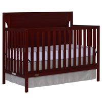 Dream On Me Cape Cod 5 in 1 Convertible Crib, Cherry