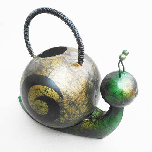 D-Art Collection Iron Snail Watering Can by Overstock